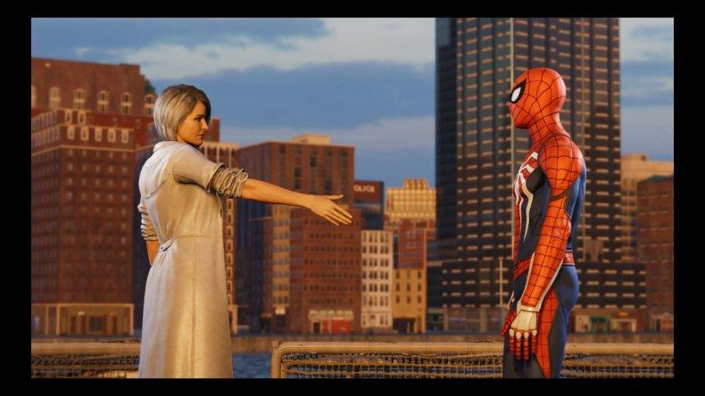 silver sable spiderman ps4 silver lining handshake