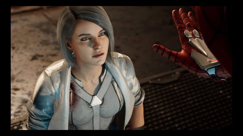 silver sable spiderman ps4 high five silver lining