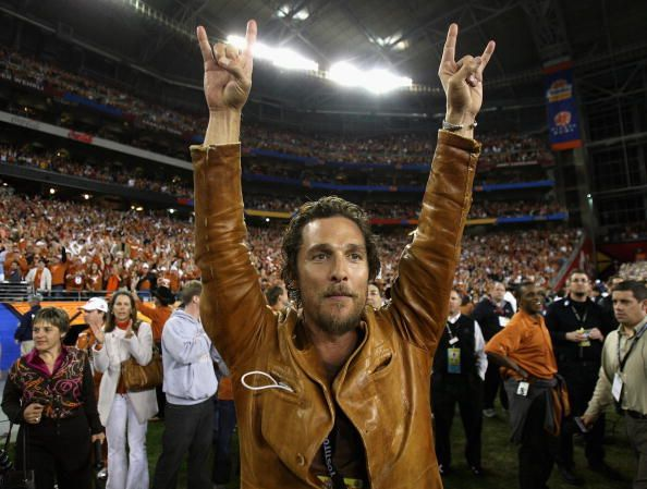 Watch Matthew Mcconaughey Gives His High School A Pep