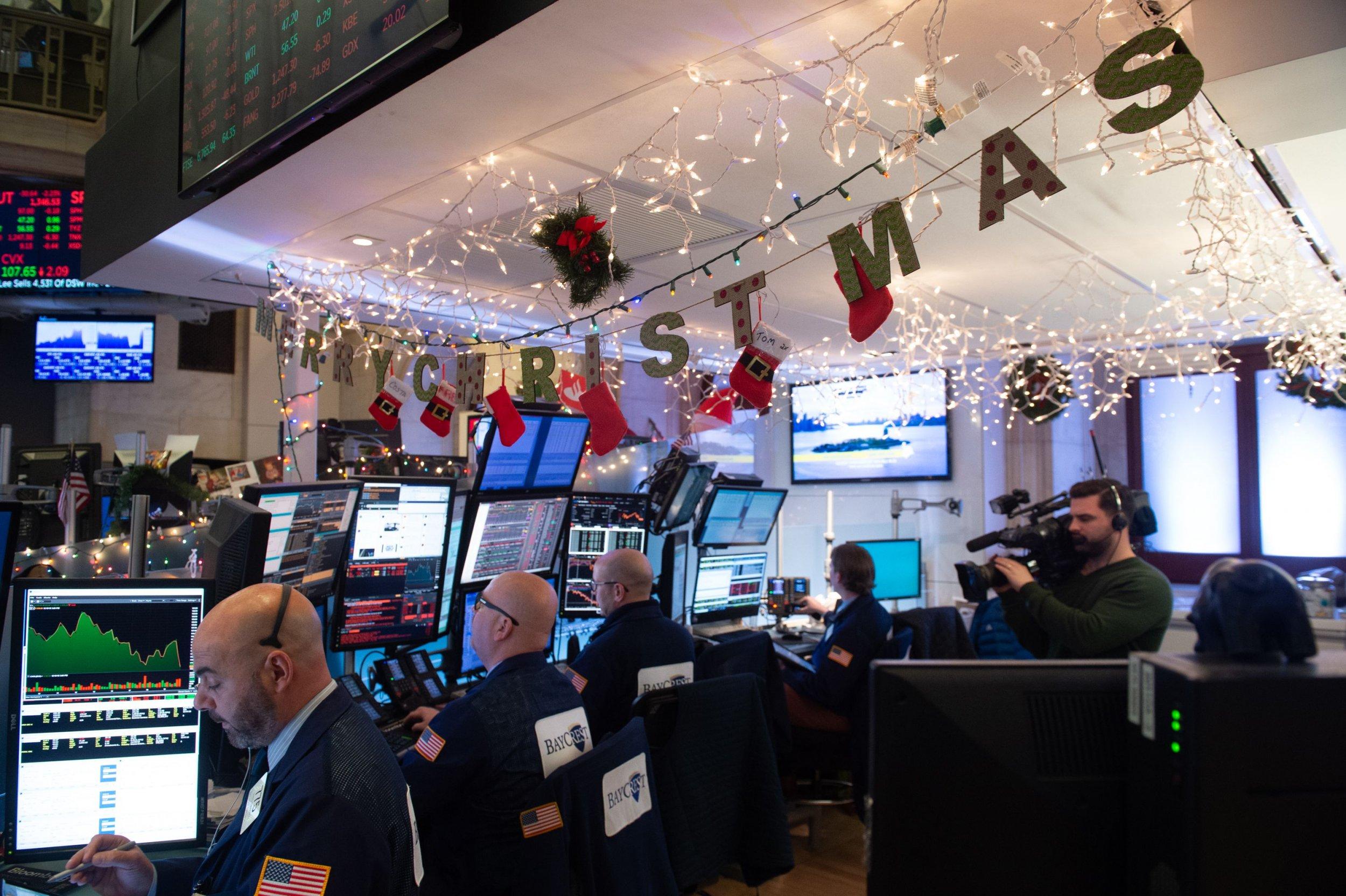 stock market christmas eve