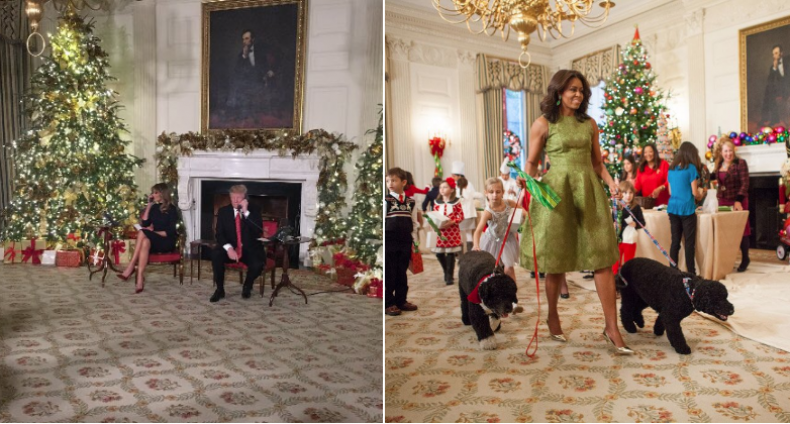 obama vs trump christmas