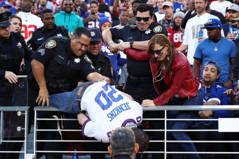 New York Giants Fans Ejected