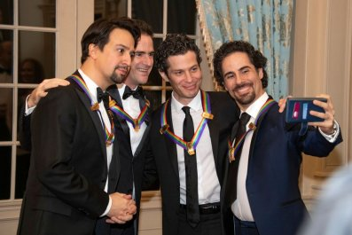 Lin-Manuel Miranda, Andy Blankenbuehler, Thomas Kail, and Alex Lacamoire