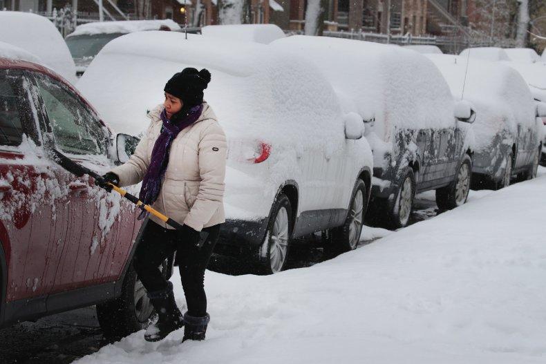 snow in chicago november