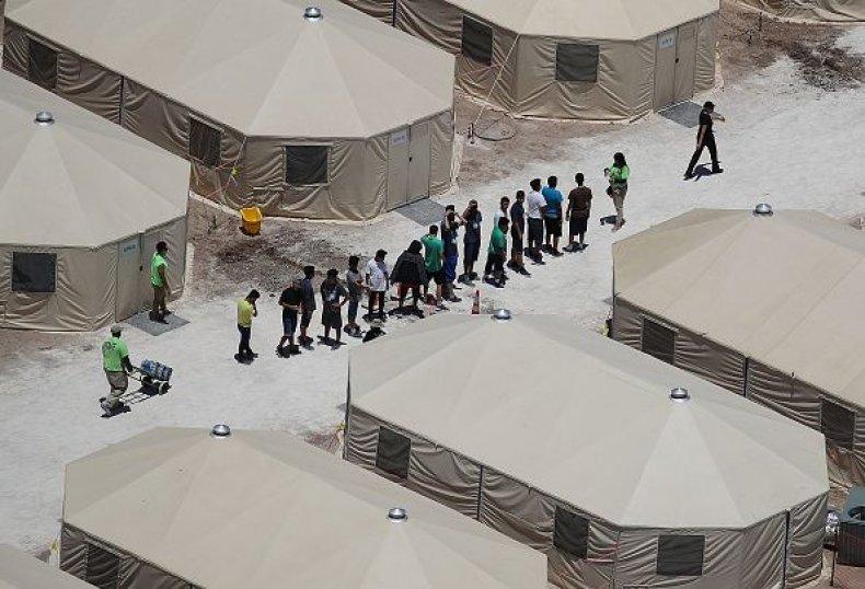 migrant tent city tornillo texas