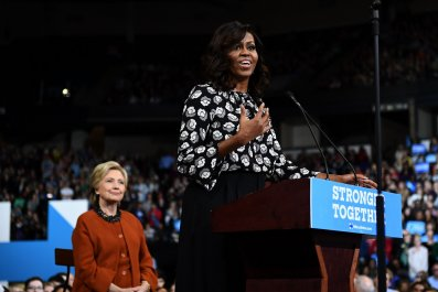 Michelle Obama Now Most-Admired Woman, Above Melania Trump, Hillary Clinton in New Poll