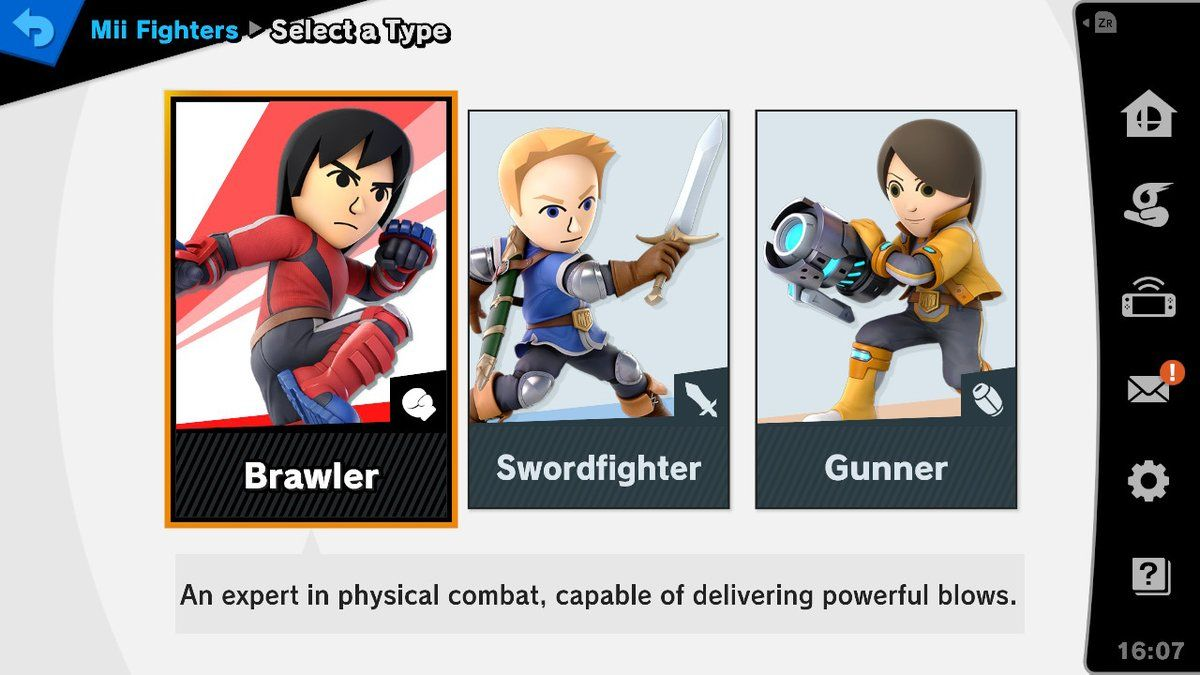 smash ultimate mii fighters
