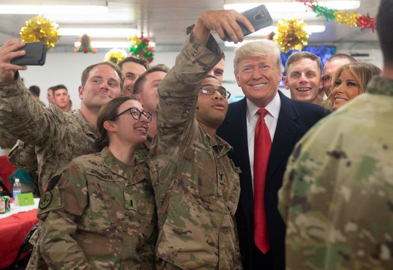 Donald Trump Iraq Christmas visit
