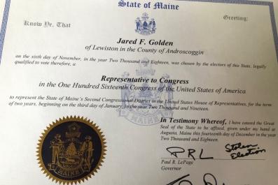 Maine Gov. Writes Stolen Election