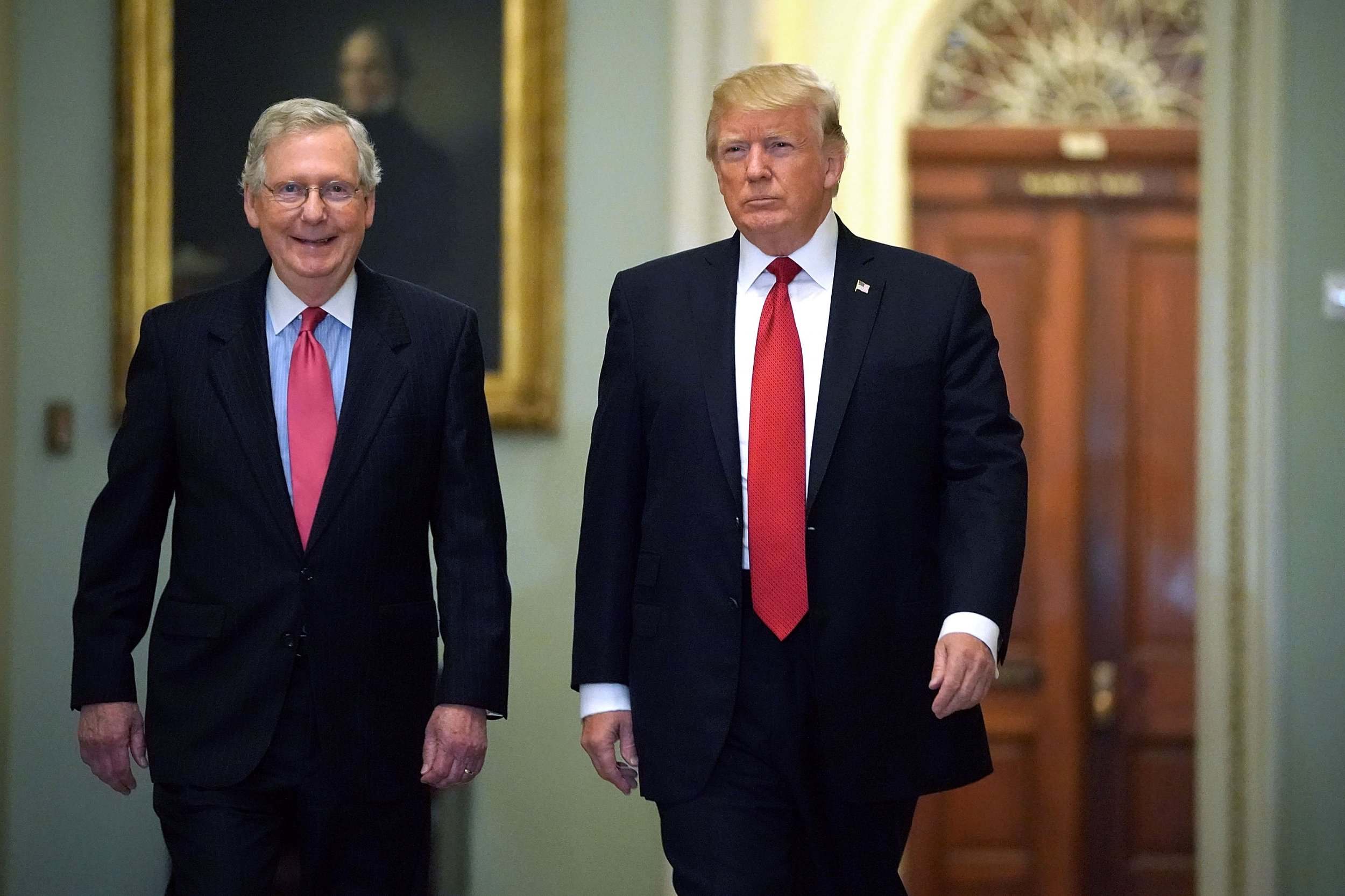 senator mcconnell and president trump