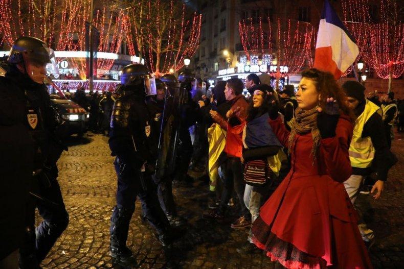 Paris New Year's Yellow Vest 2019