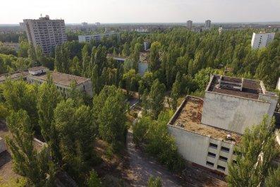 Pripyat near Chernobyl