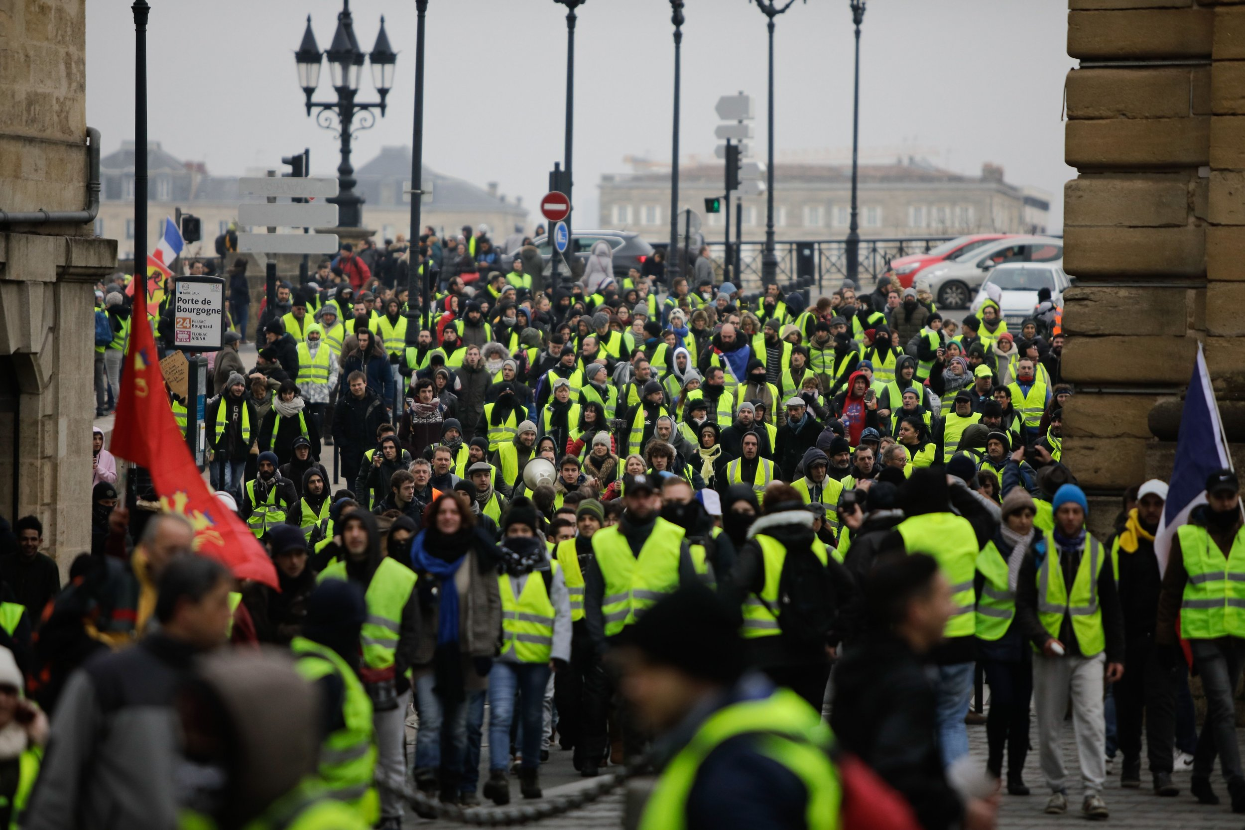 Gilets jaunes yellow vest Bordeaux France