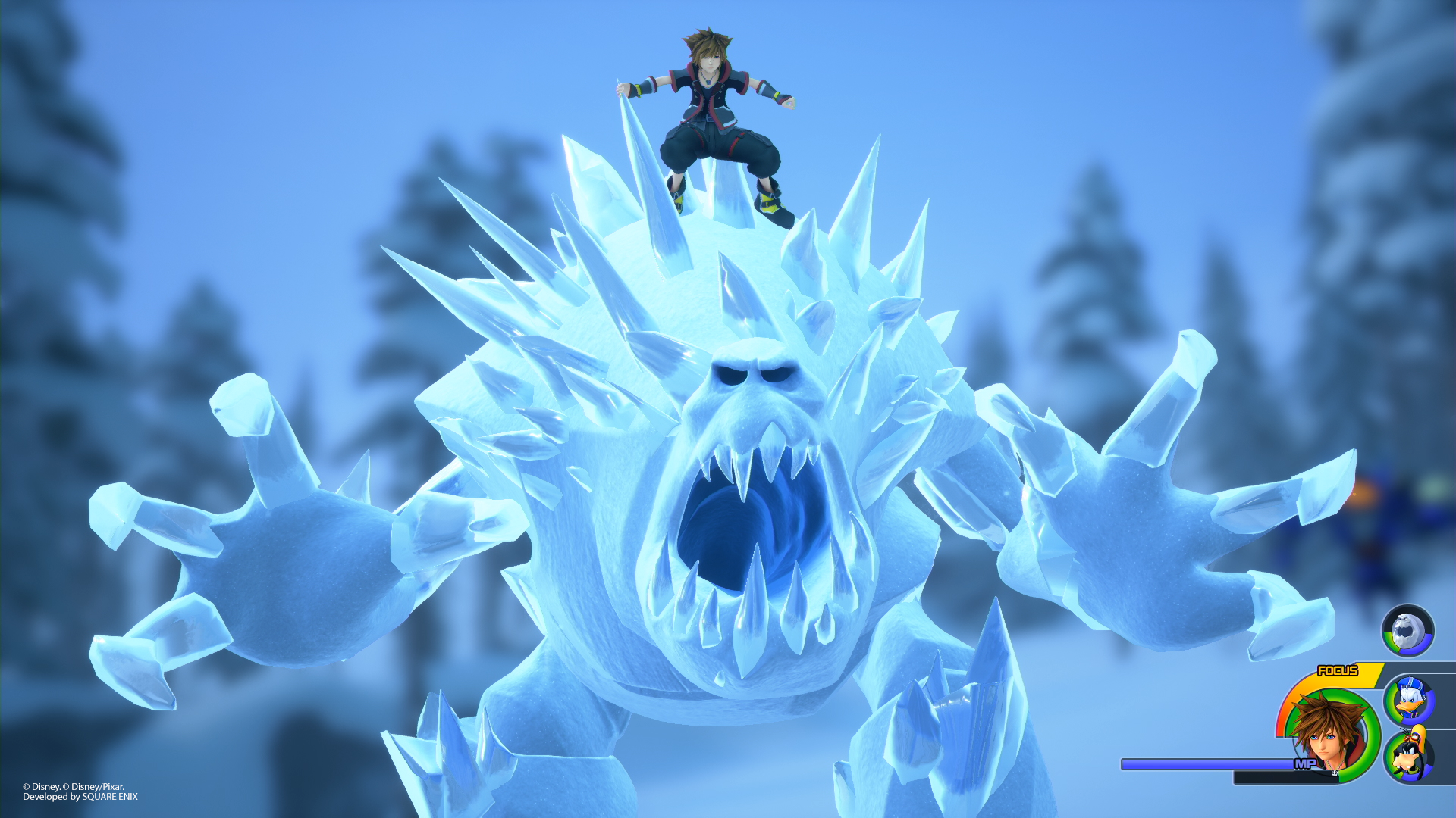 sora on ice monster