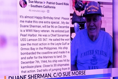 Duane Sherman 96th Birthday