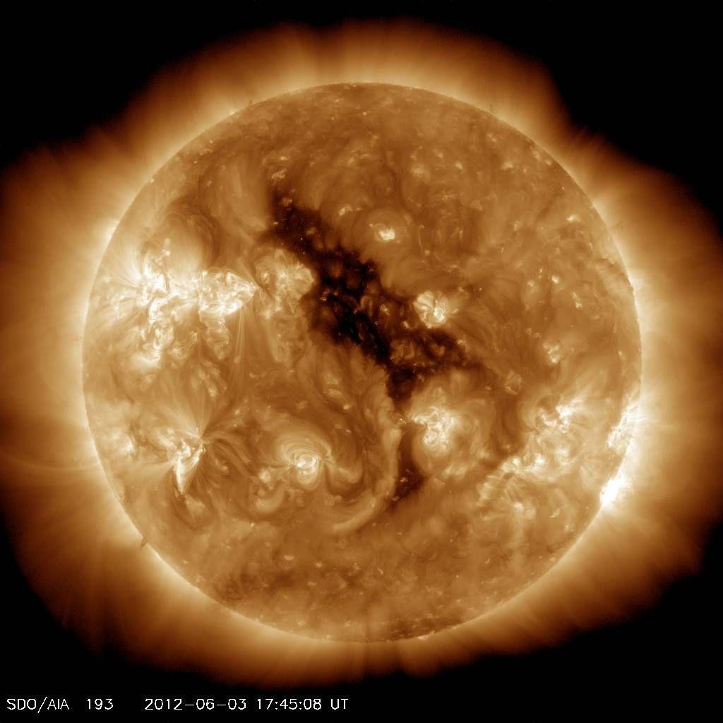 coronal hole sun
