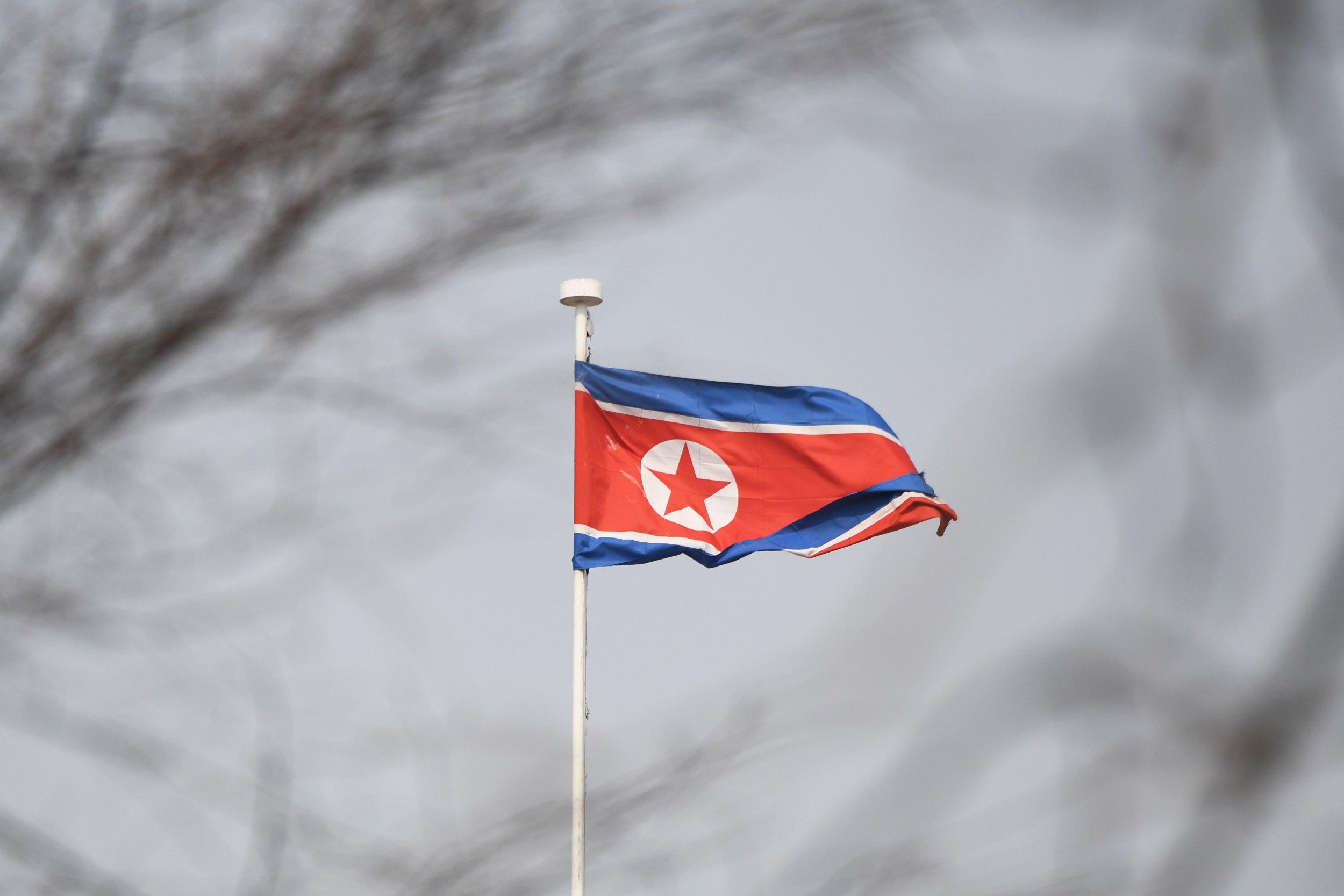 North Korean flag ambassador missing Italy
