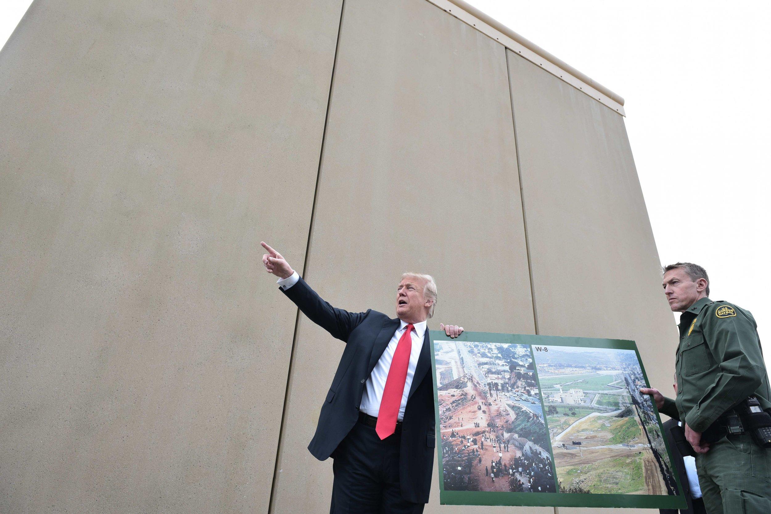 President Donald Trump border wall San Diego