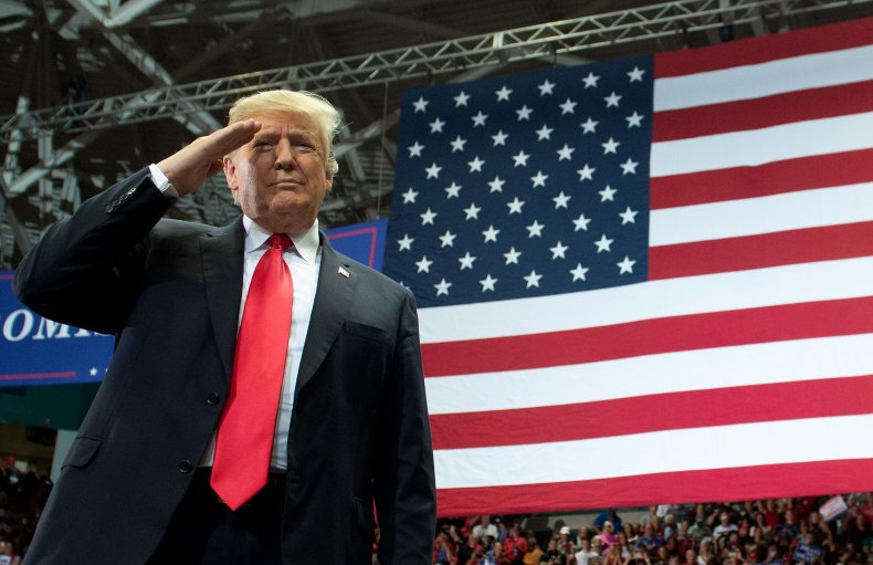 Trump saluting General