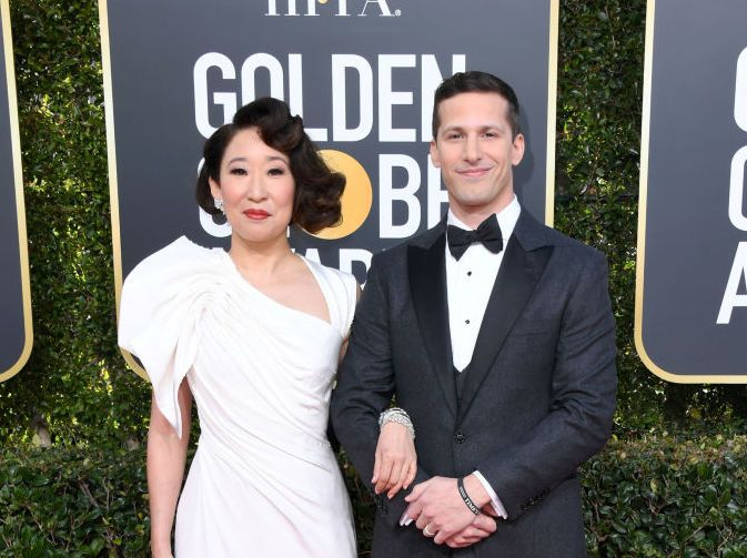 Golden Globes - Sandra Oh and Andy Samberg