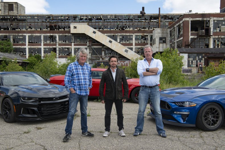 the grand tour series 3 episode 1 motown funk Jeremy, Richard and James test muscle cars in Detroit