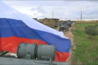 RussiaPatrolManbijSyria