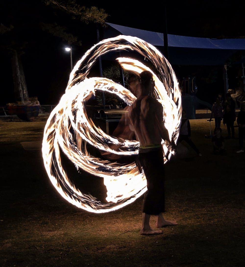 Fire twirler