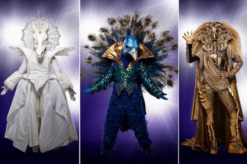 the masked singer who is the peacock, lion, unicorn, monster, deer