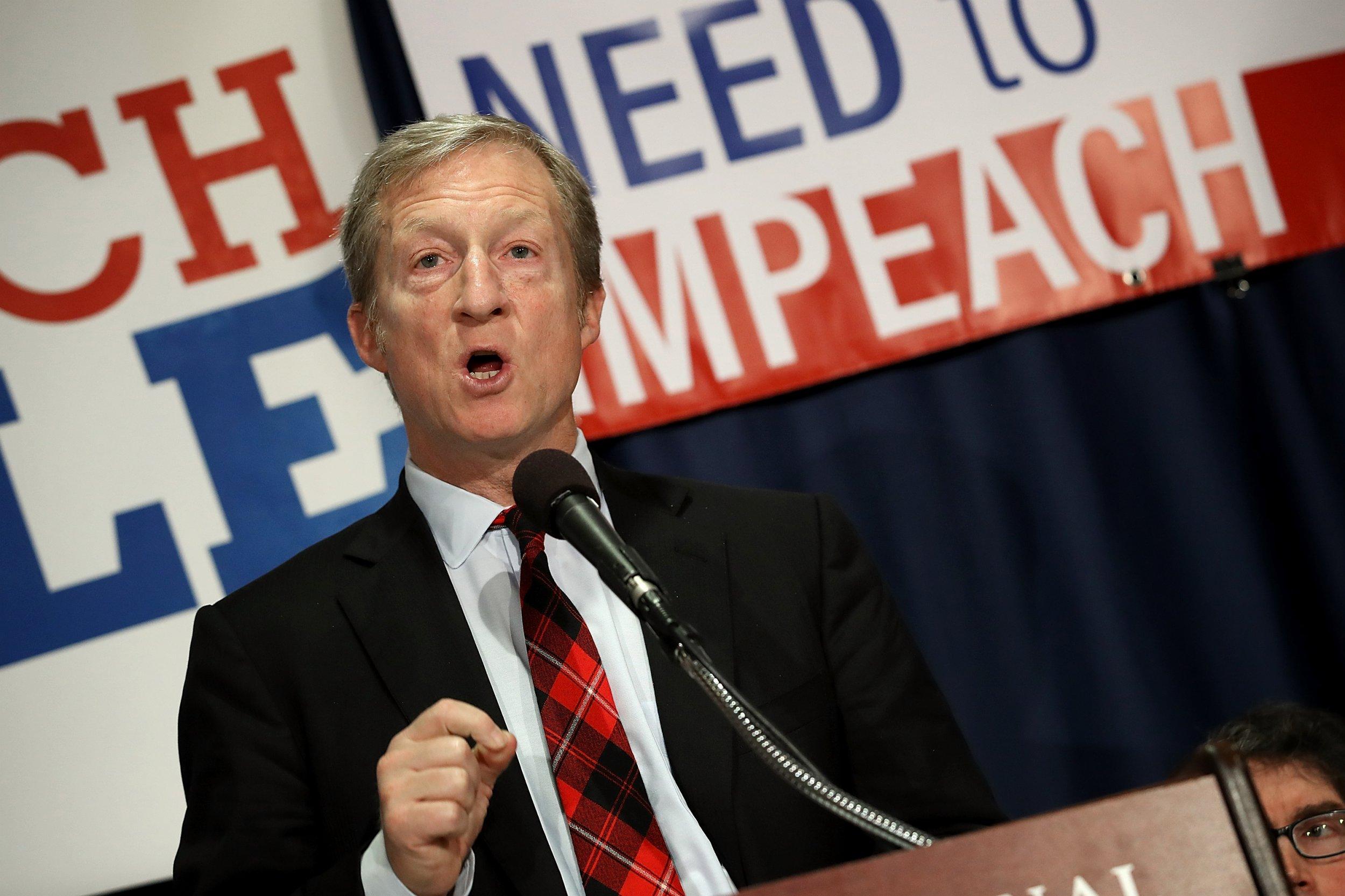 tom, steyer, impeach, donald, trump, 2020