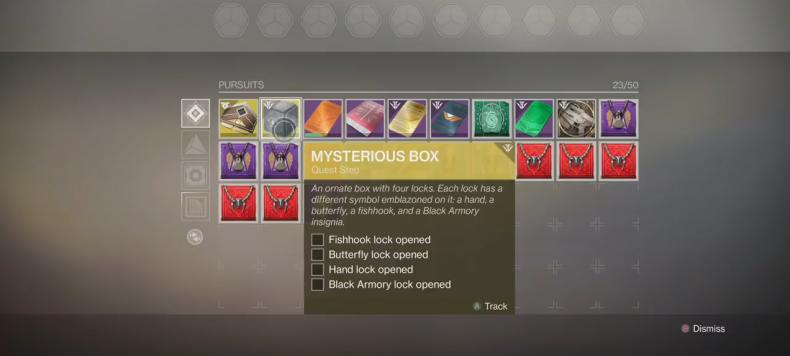 Destiny 2 Mysterious Box quest steps