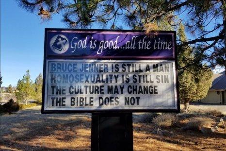 California church sign bruce jenner