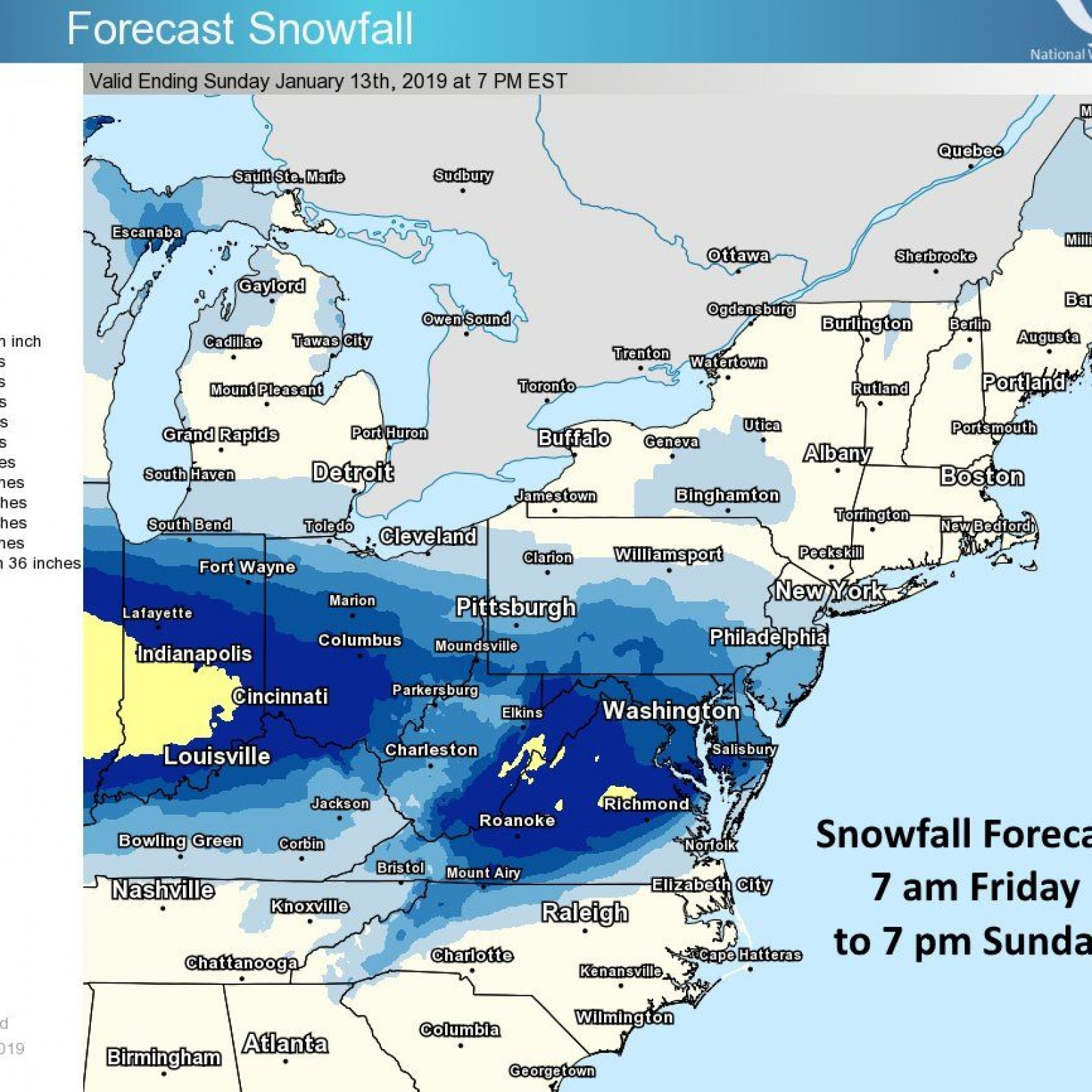 Snow Storm to Bring Wintry Weather Mid-West to East Coast ... on