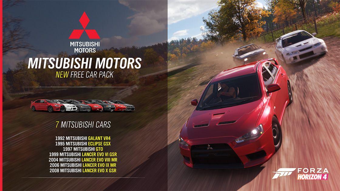 Forza Horizon 4' Update: Free Mitsubishi Car Pack and More
