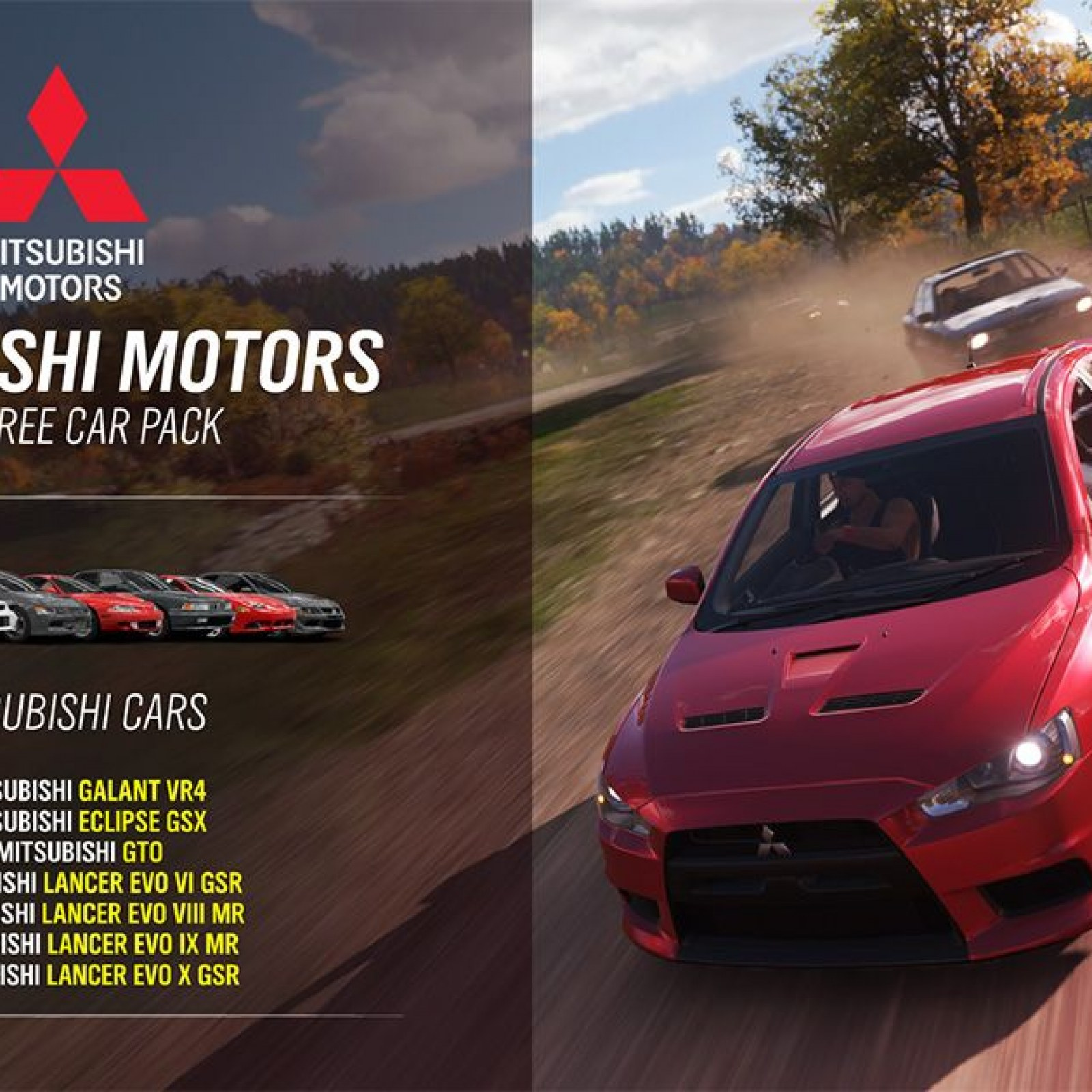 Forza Horizon 4' Update: Free Mitsubishi Car Pack and More