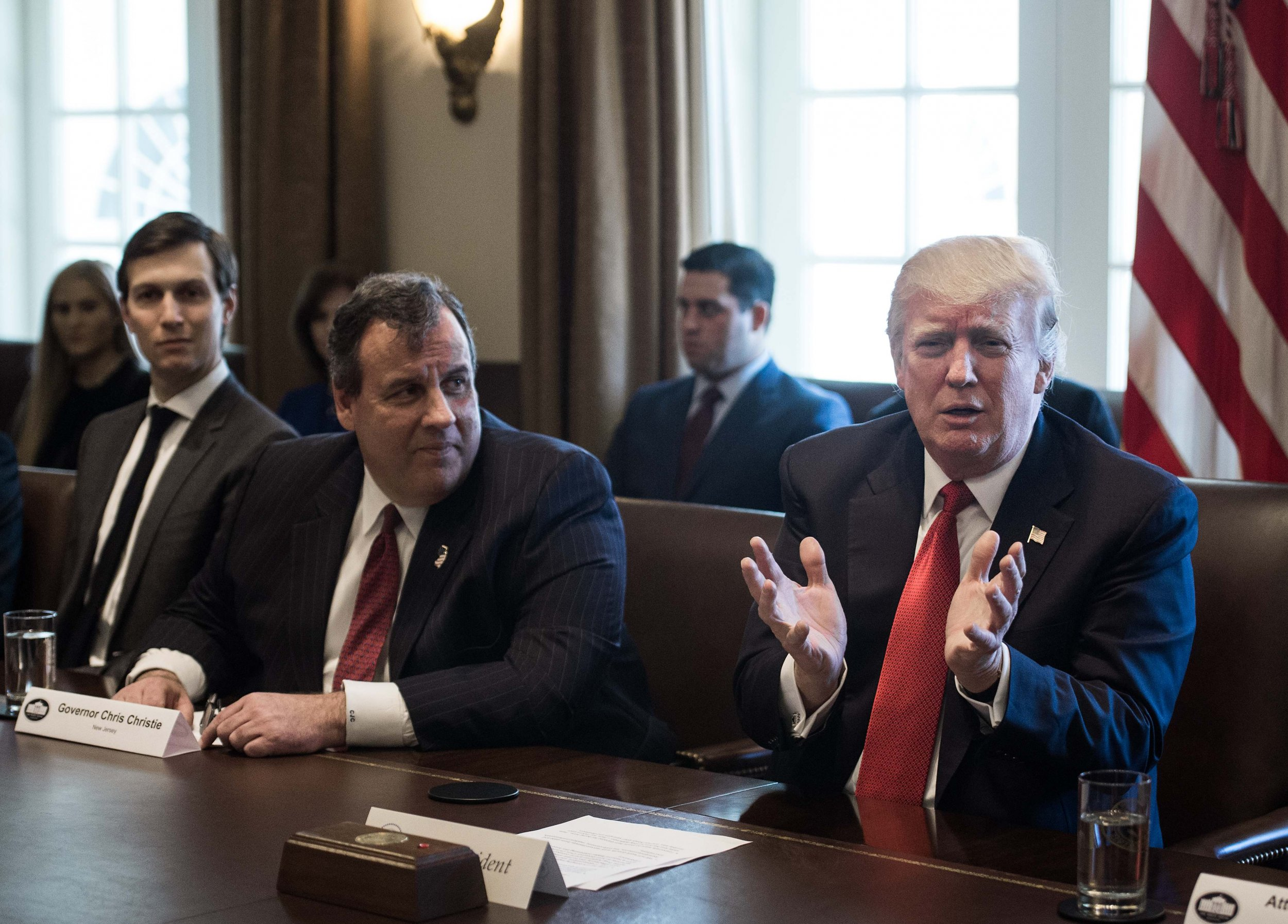 Jared Kushner told Donald Trump that firing Comey and Flynn would help end Russia probe, Chris Christie says