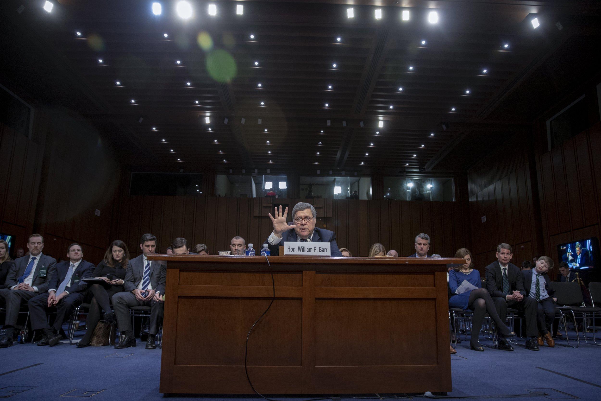democrats, william, barr, testimony, trump, nominee