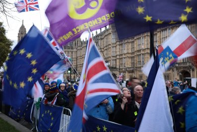 Brexit protesters Westminster