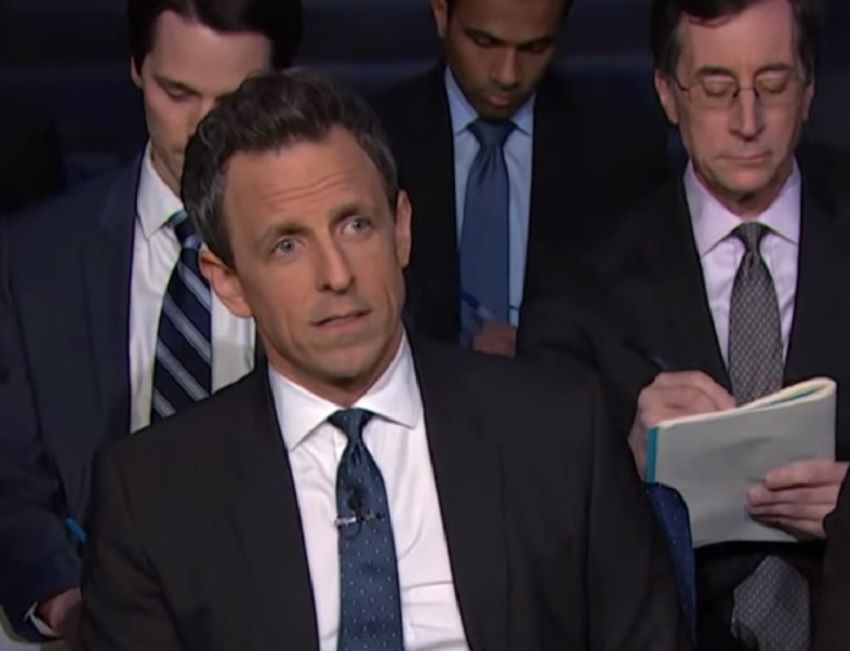 seth meyers trump press conference