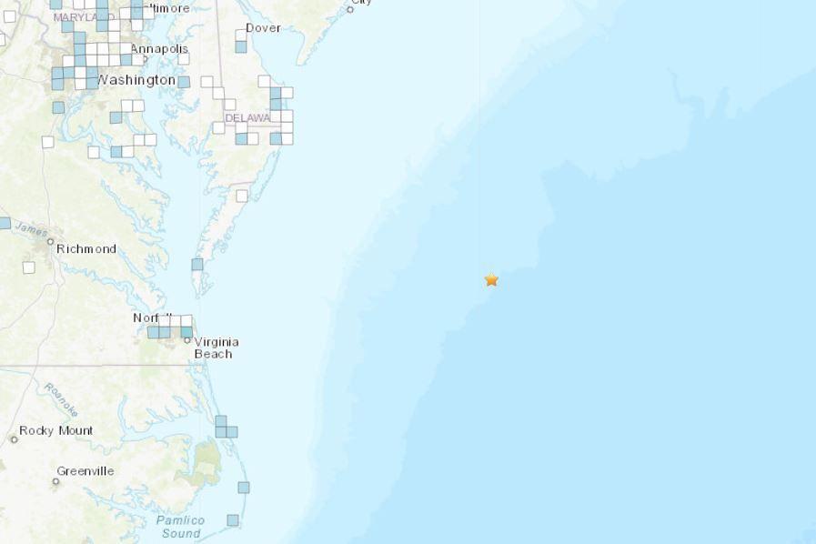 earthquake location MD
