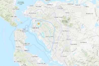 earthquake piedmont, california, hayward fault