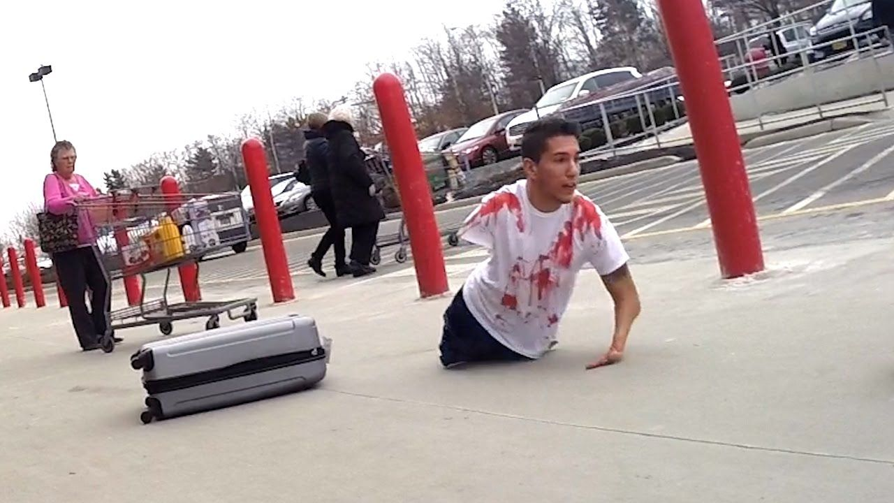 body in suitcase prank