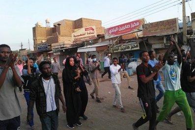 sudan, uprising, protests, civil, war, president