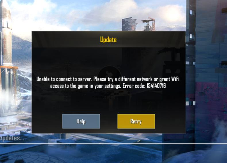 PUBG Mobile unable to connect error