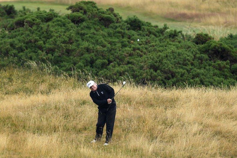 trump golf compared obama
