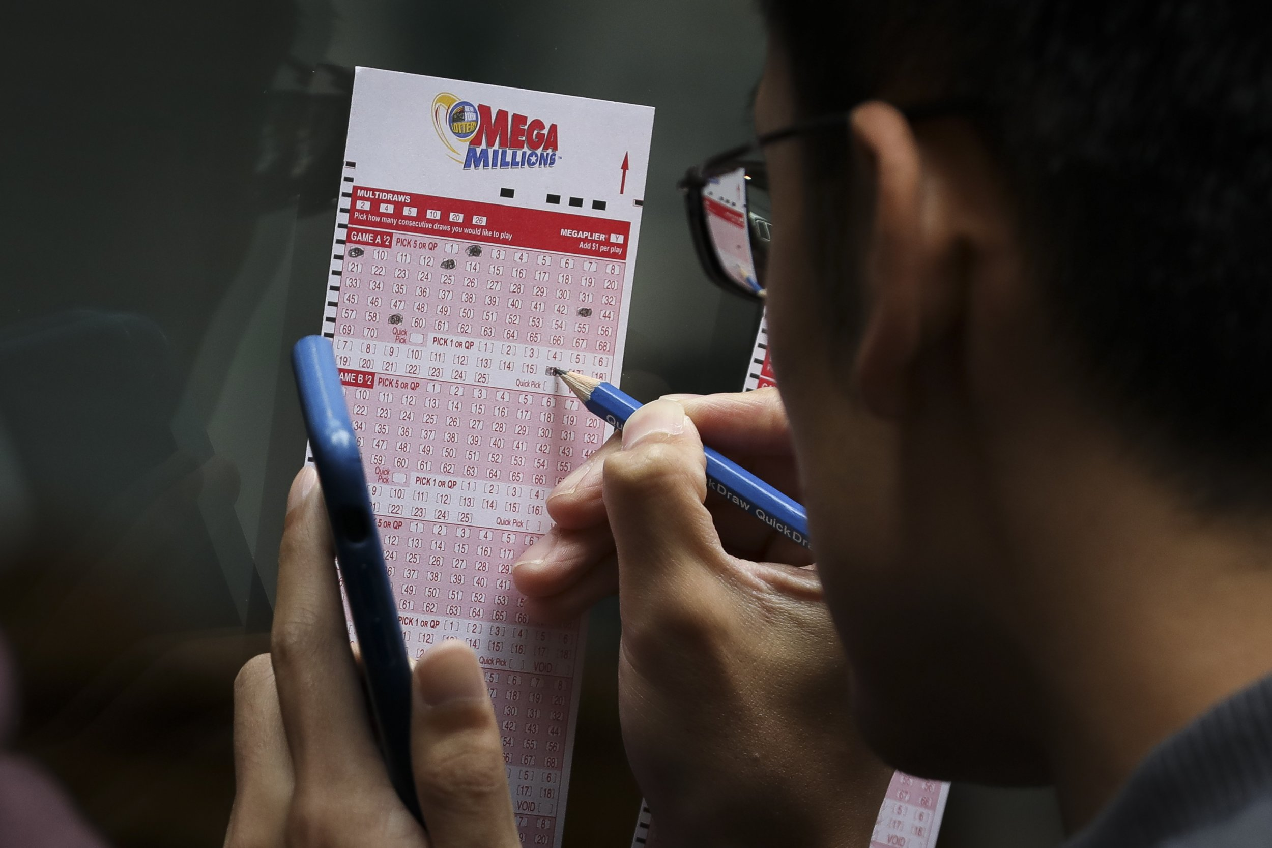 filling out mega millions ticket