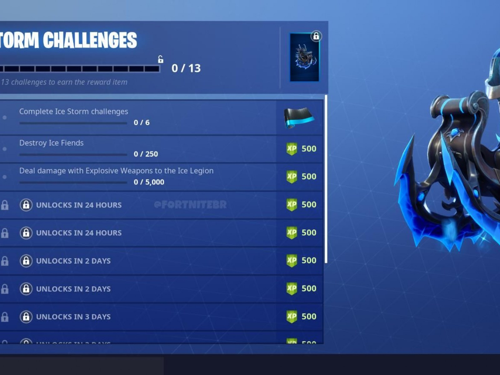 Fortnite Ice Storm Challenge Guide Destroy Ice Fiends Ice