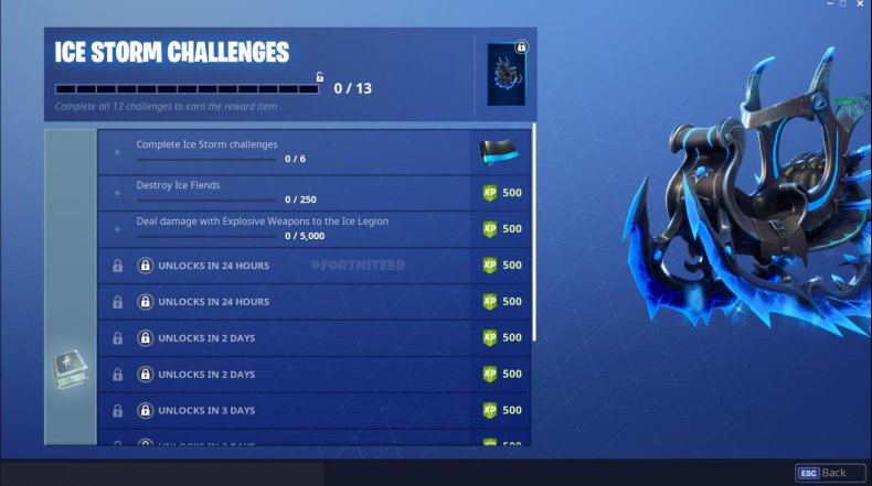 Fortnite Ice Storm Challenges