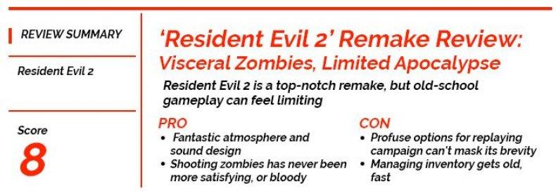 Newsgeek Review Score Resident Evil 2