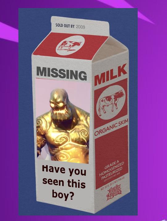 golden milk cart fortnite