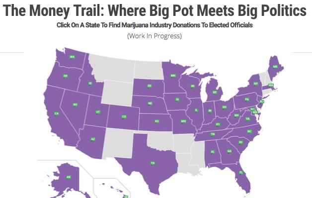 SAM: anti marijuana legalization donation map